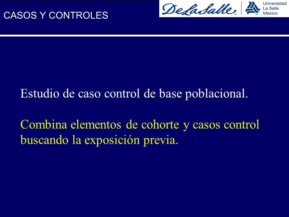 Estudio de caso control de base poblacional.