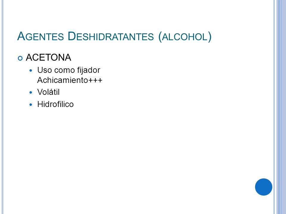 Agentes Deshidratantes (alcohol)