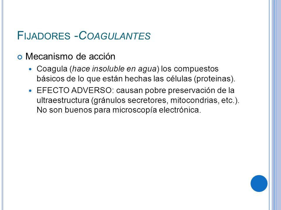 Fijadores -Coagulantes