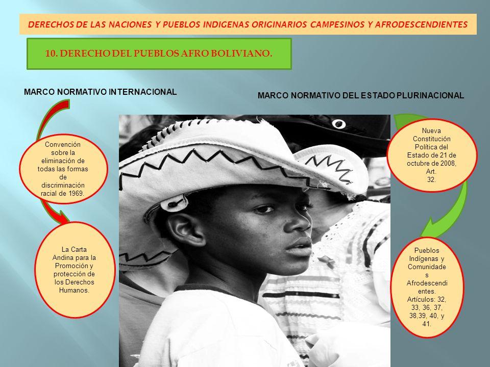 10. DERECHO DEL PUEBLOS AFRO BOLIVIANO.