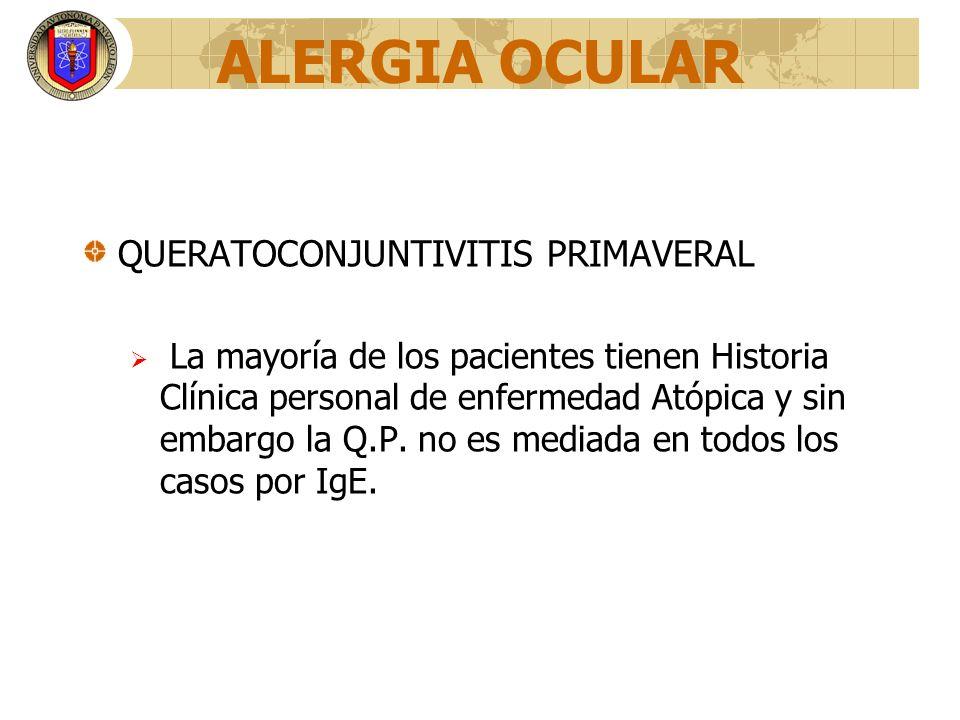 ALERGIA OCULAR QUERATOCONJUNTIVITIS PRIMAVERAL