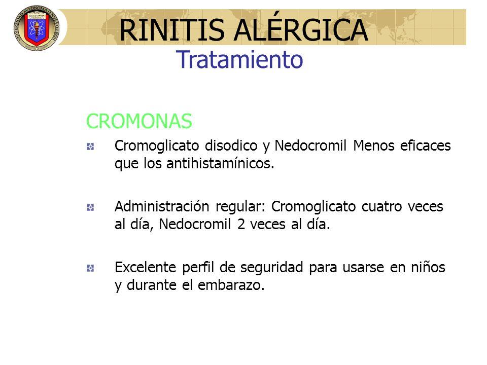 RINITIS ALÉRGICA Tratamiento CROMONAS
