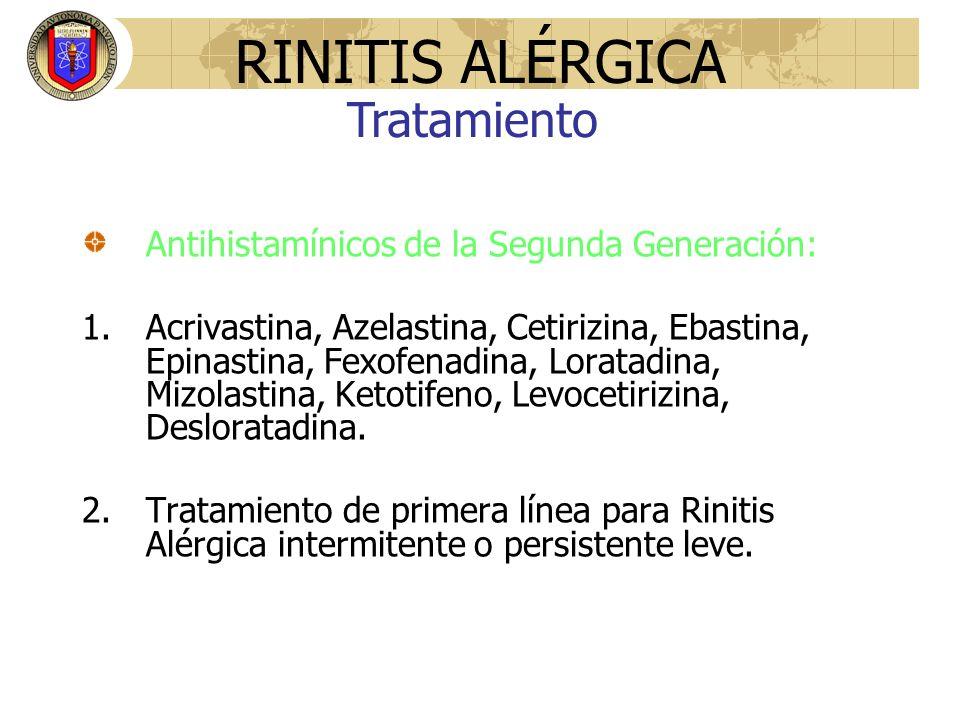 RINITIS ALÉRGICA Tratamiento