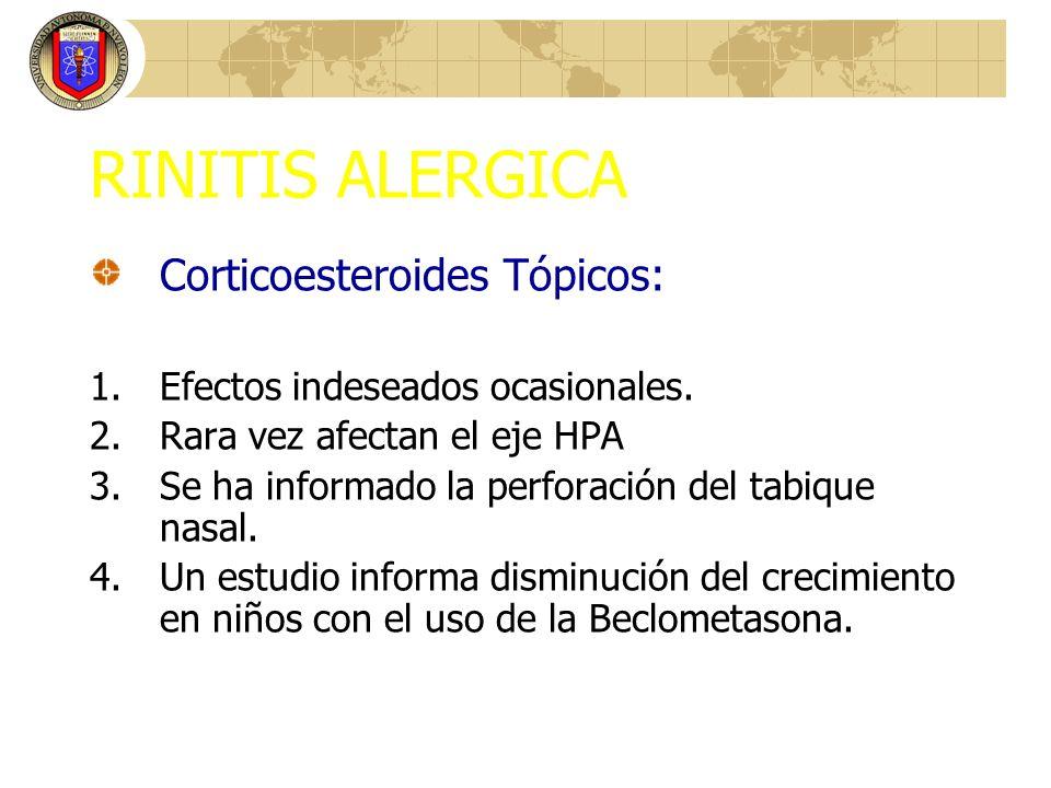 RINITIS ALERGICA Corticoesteroides Tópicos: