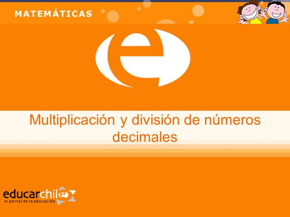 Multiplicación y división de números decimales