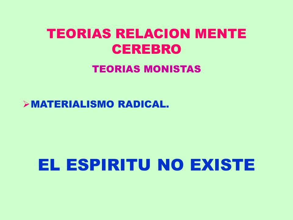 TEORIAS RELACION MENTE CEREBRO