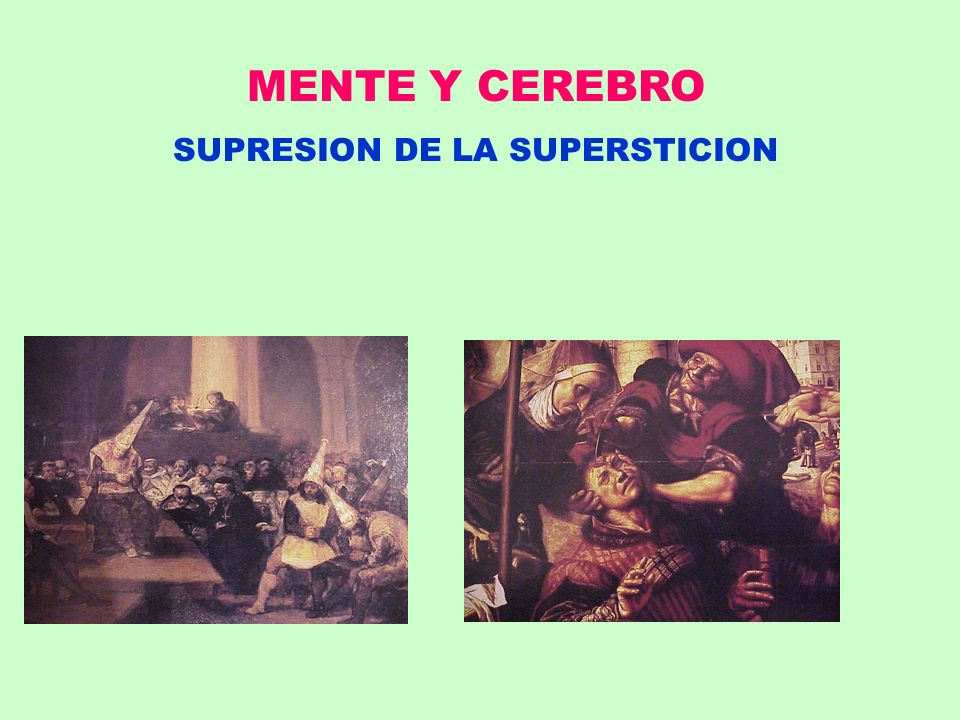 SUPRESION DE LA SUPERSTICION