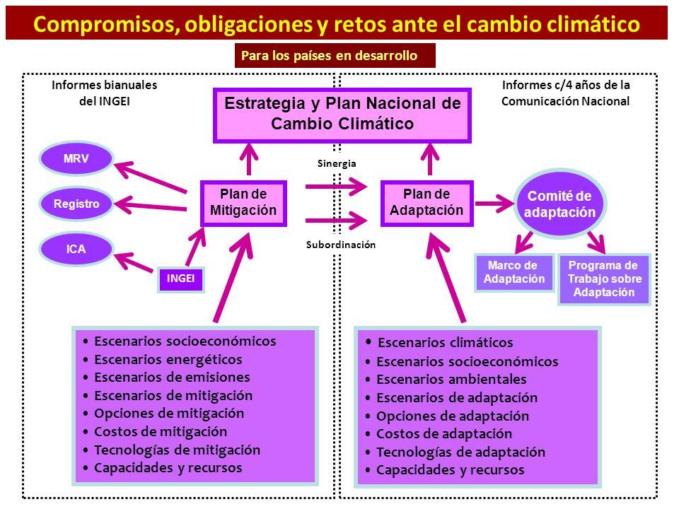 Compromisos, obligaciones y retos ante el cambio climático
