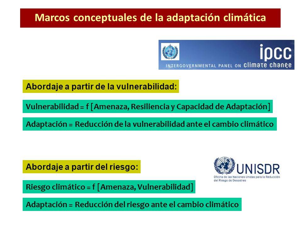 Marcos conceptuales de la adaptación climática