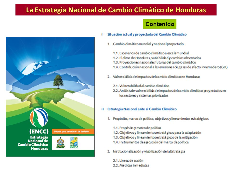 La Estrategia Nacional de Cambio Climático de Honduras