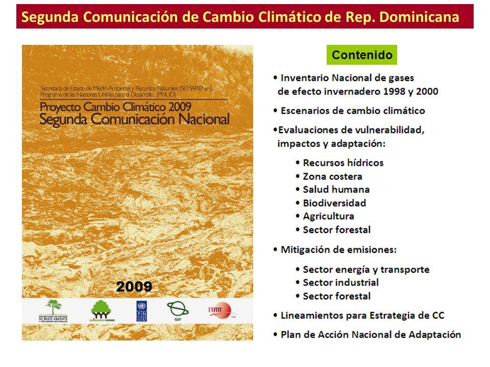 Segunda Comunicación de Cambio Climático de Rep. Dominicana