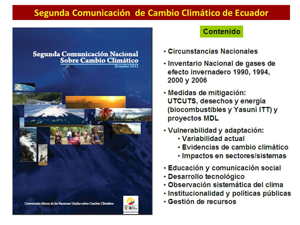 Segunda Comunicación de Cambio Climático de Ecuador