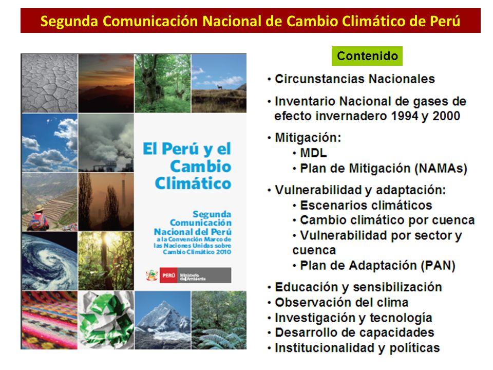 Segunda Comunicación Nacional de Cambio Climático de Perú
