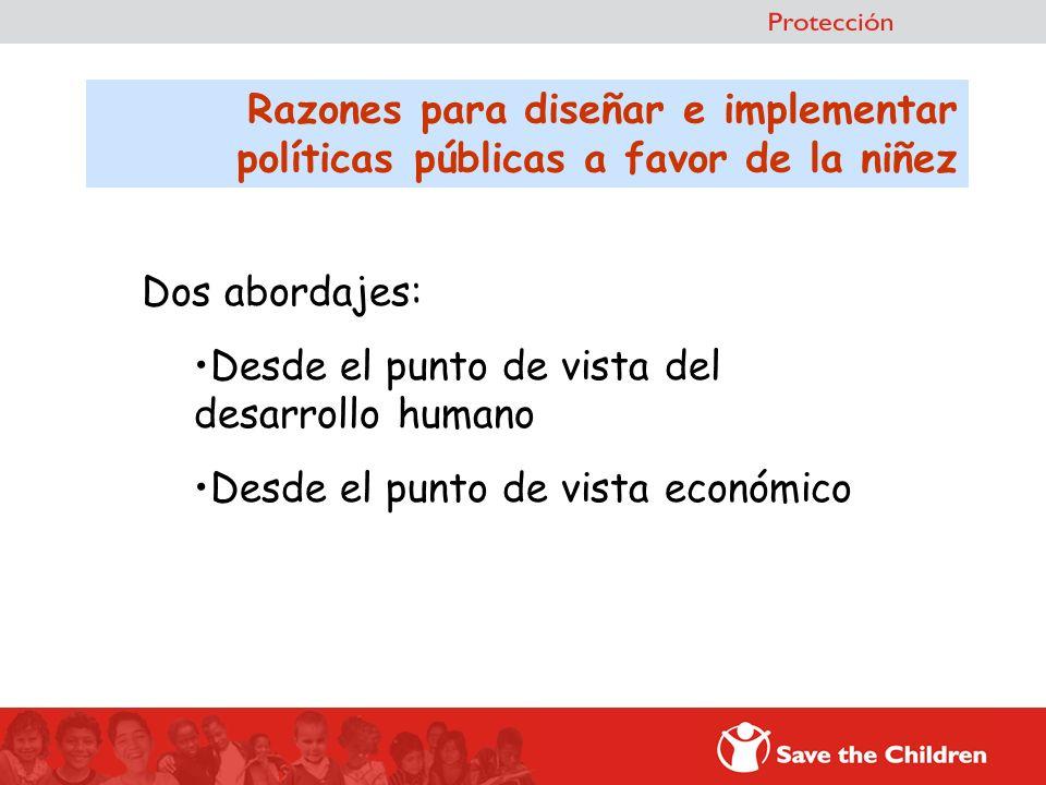 Razones para diseñar e implementar políticas públicas a favor de la niñez