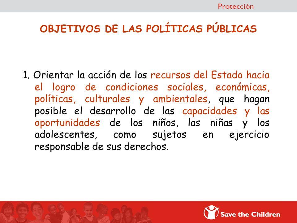 OBJETIVOS DE LAS POLÍTICAS PÚBLICAS