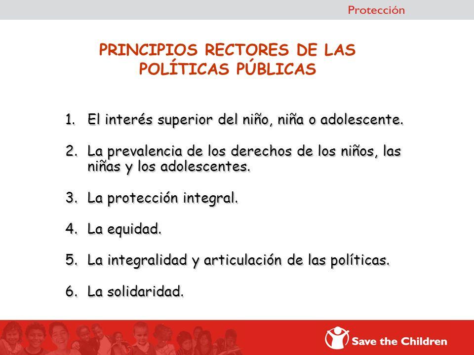 PRINCIPIOS RECTORES DE LAS POLÍTICAS PÚBLICAS