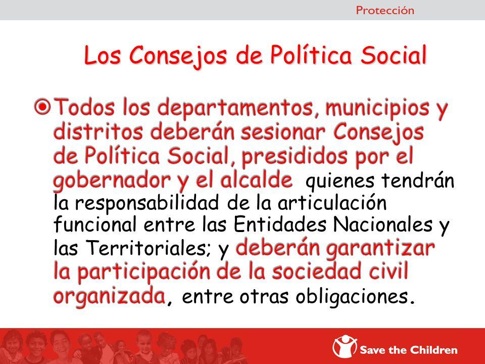 Los Consejos de Política Social