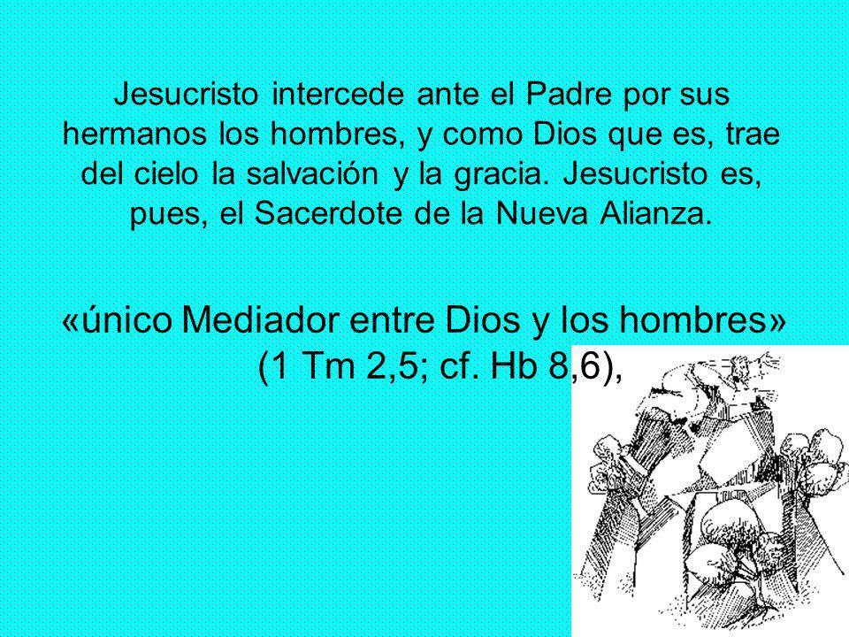 «único Mediador entre Dios y los hombres» (1 Tm 2,5; cf. Hb 8,6),
