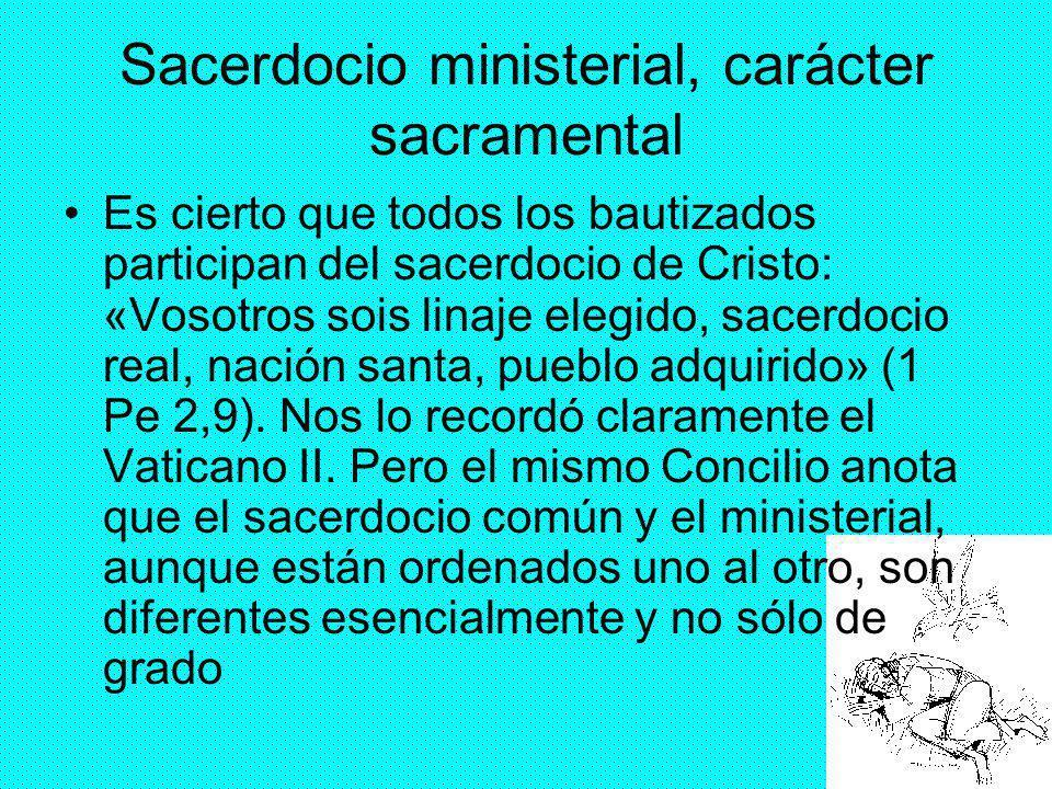 Sacerdocio ministerial, carácter sacramental
