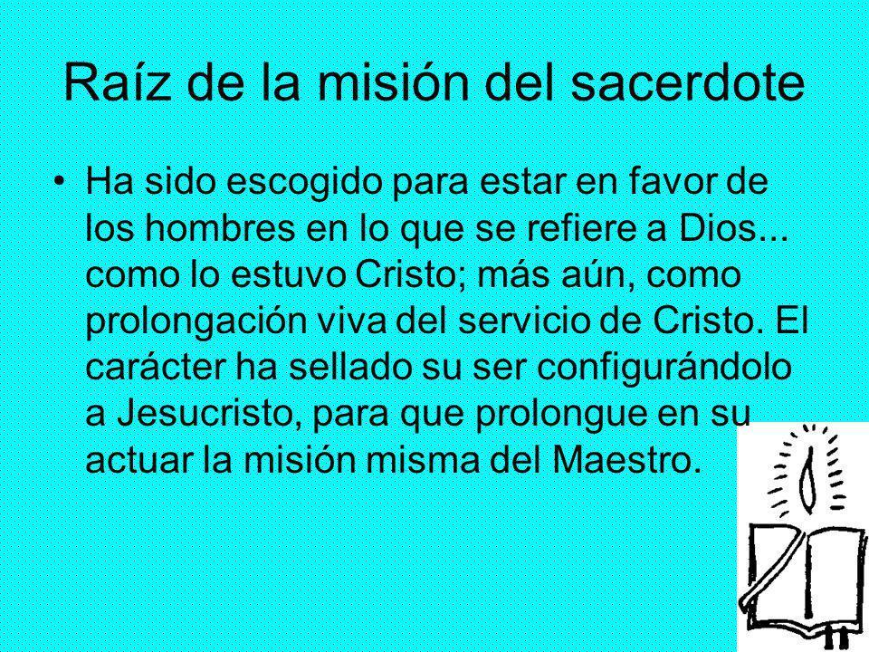 Raíz de la misión del sacerdote