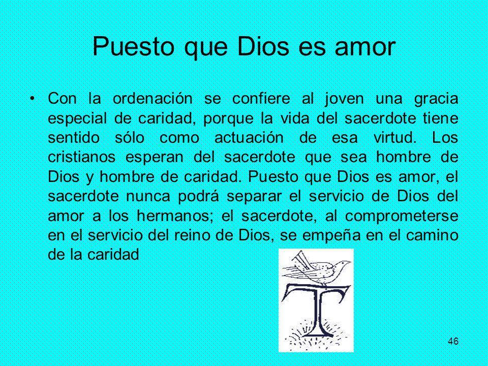 Puesto que Dios es amor