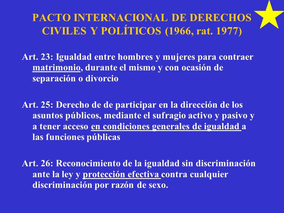 PACTO INTERNACIONAL DE DERECHOS CIVILES Y POLÍTICOS (1966, rat. 1977)