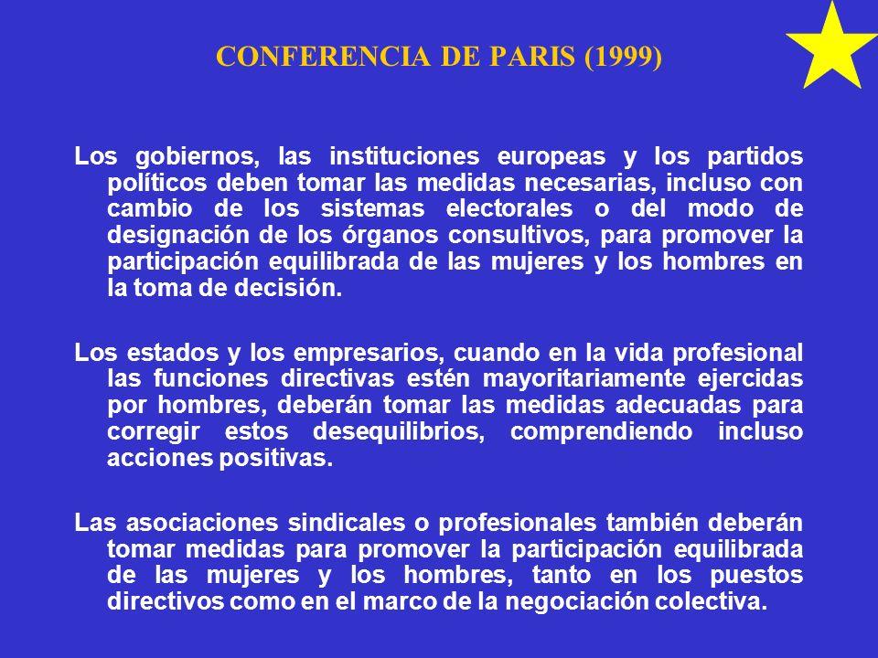CONFERENCIA DE PARIS (1999)