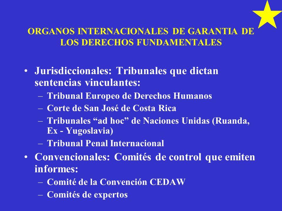 ORGANOS INTERNACIONALES DE GARANTIA DE LOS DERECHOS FUNDAMENTALES