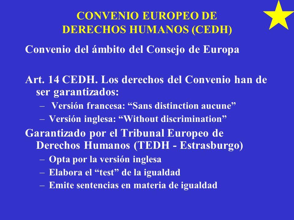 CONVENIO EUROPEO DE DERECHOS HUMANOS (CEDH)