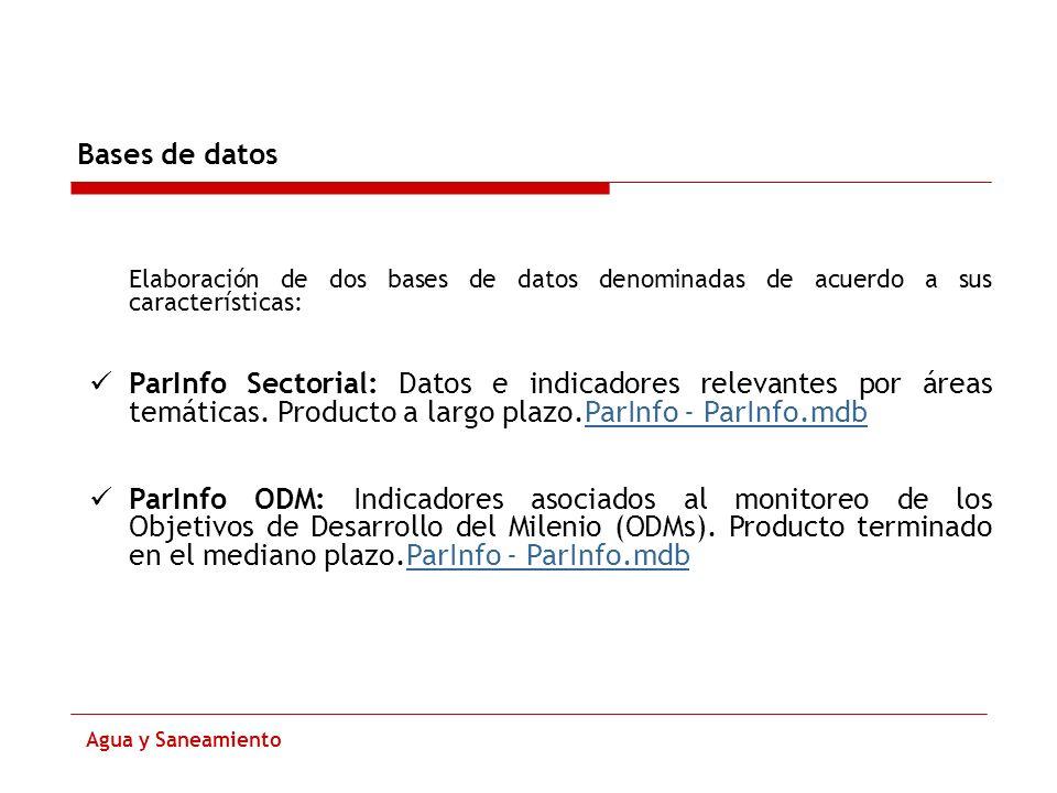Bases de datosElaboración de dos bases de datos denominadas de acuerdo a sus características: