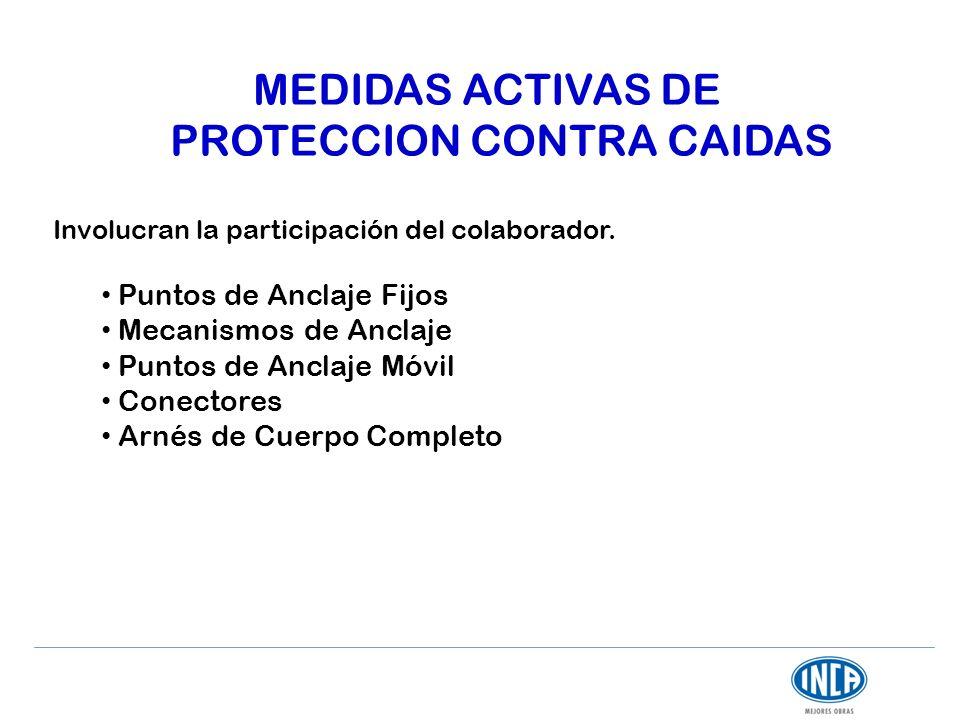 MEDIDAS ACTIVAS DE PROTECCION CONTRA CAIDAS