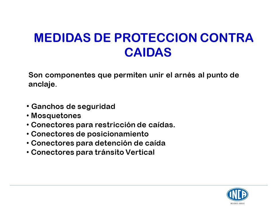MEDIDAS DE PROTECCION CONTRA CAIDAS