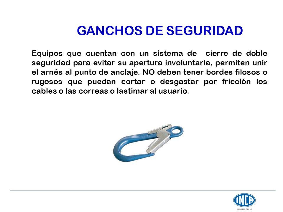 GANCHOS DE SEGURIDAD