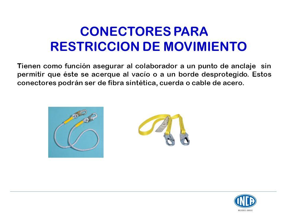 CONECTORES PARA RESTRICCION DE MOVIMIENTO