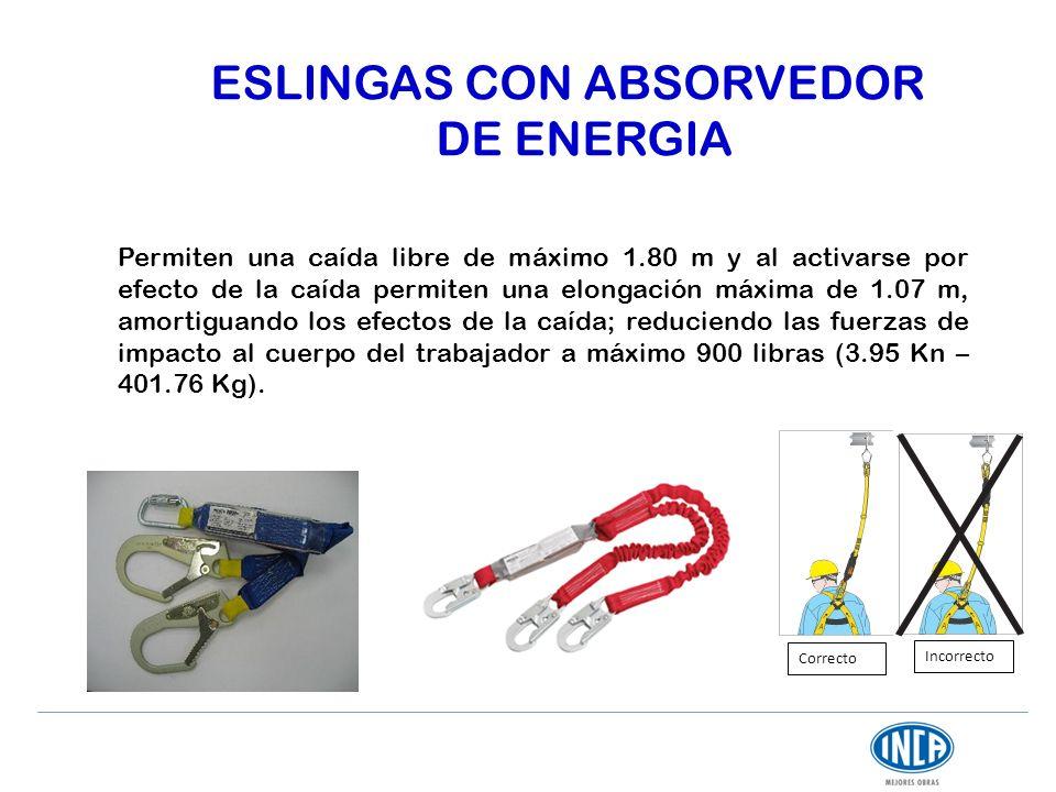 ESLINGAS CON ABSORVEDOR DE ENERGIA
