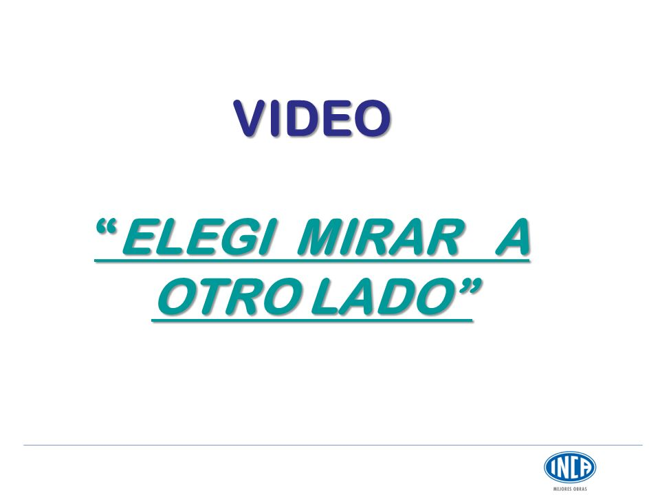 VIDEO ELEGI MIRAR A OTRO LADO