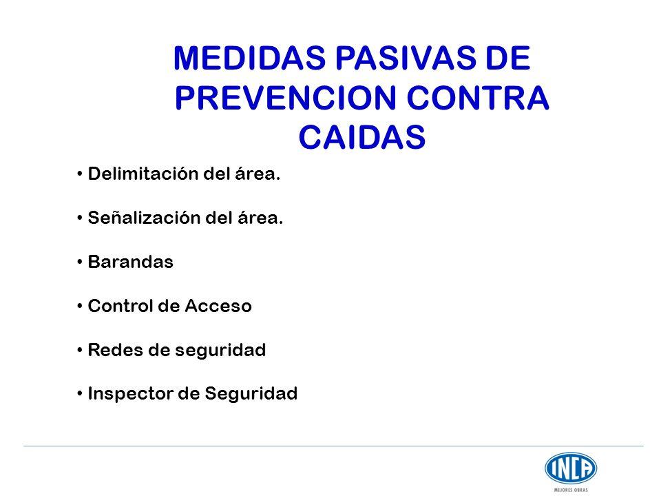 MEDIDAS PASIVAS DE PREVENCION CONTRA CAIDAS