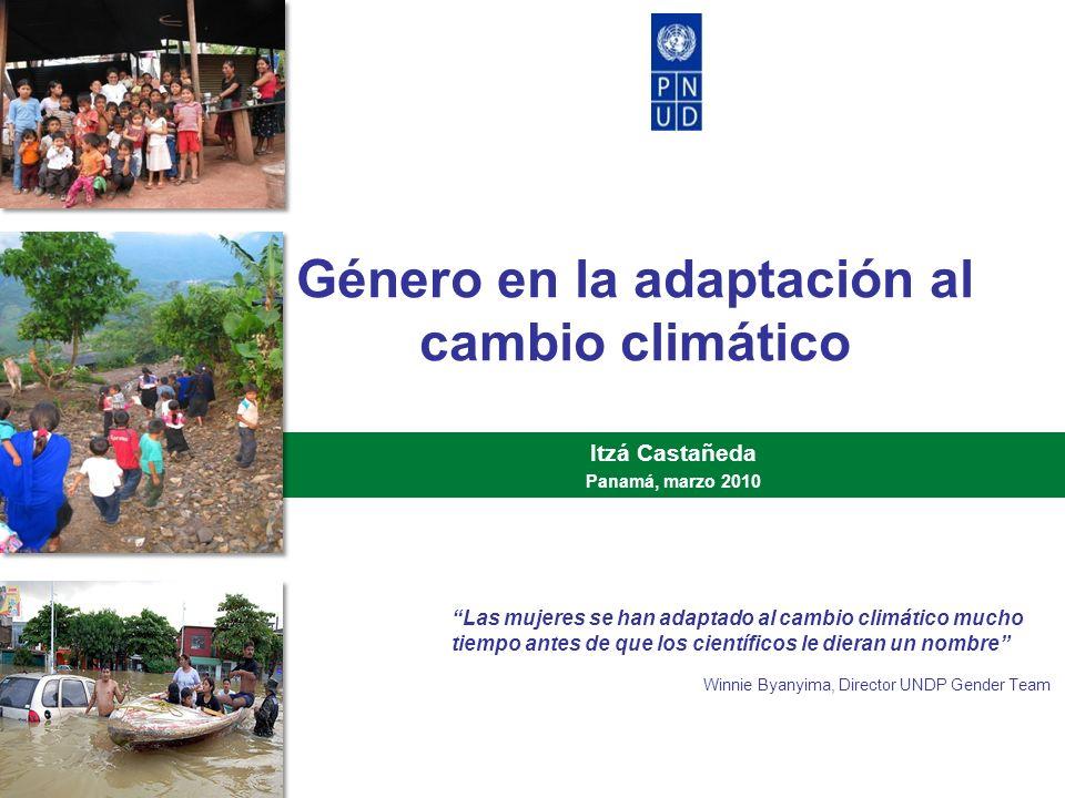 Género en la adaptación al cambio climático