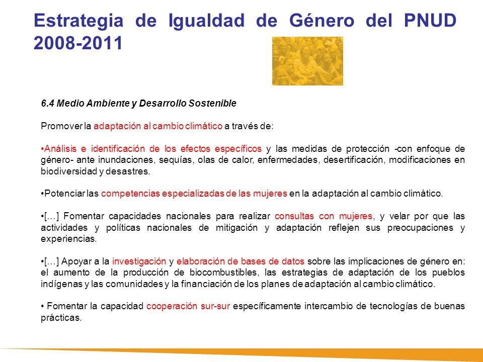 Estrategia de Igualdad de Género del PNUD 2008-2011