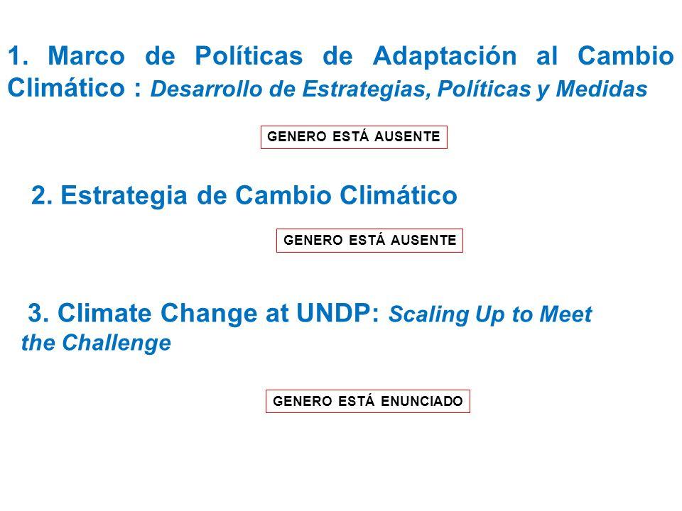 2. Estrategia de Cambio Climático