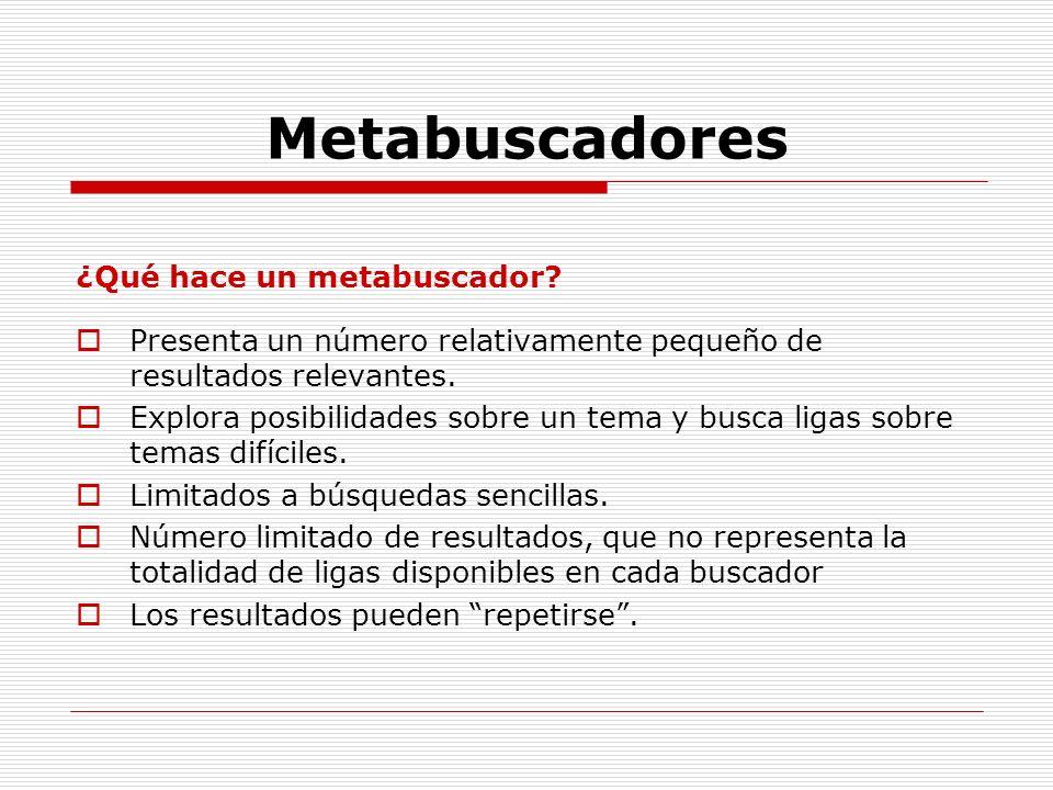 Metabuscadores ¿Qué hace un metabuscador