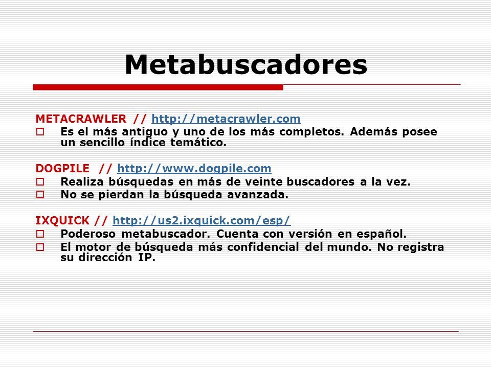 Metabuscadores METACRAWLER // http://metacrawler.com