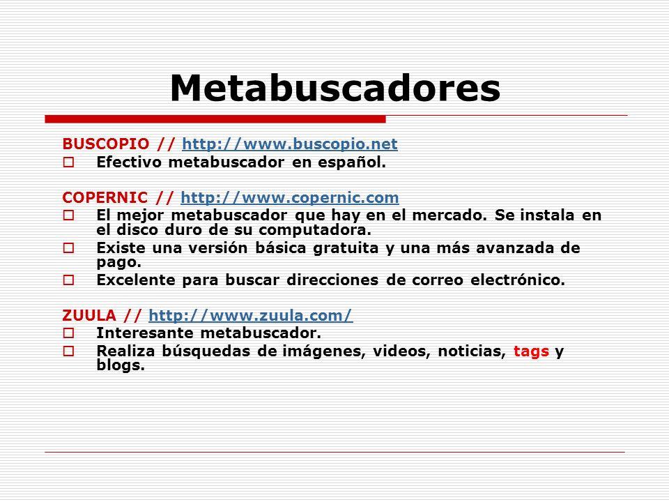 Metabuscadores BUSCOPIO // http://www.buscopio.net