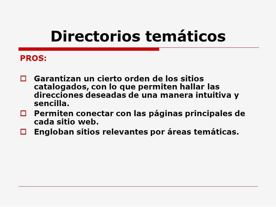 Directorios temáticos