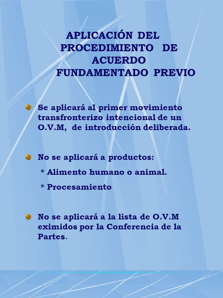APLICACIÓN DEL PROCEDIMIENTO DE ACUERDO FUNDAMENTADO PREVIO