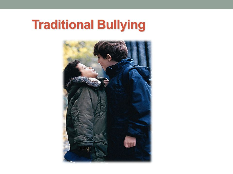 traditional bullying online Explaining the differences between online bullying and traditional bullying  following flick's level 2 e-safety training.