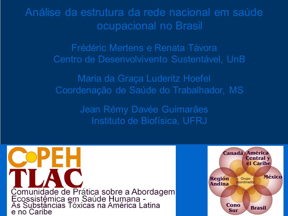 Análise da estrutura da rede nacional em saúde ocupacional no Brasil