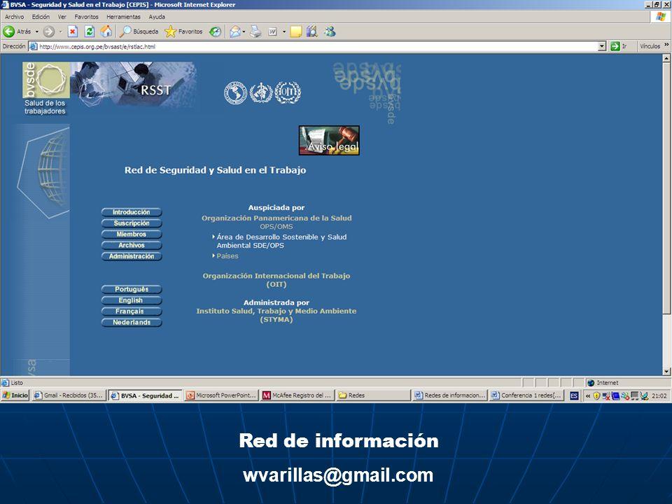 Red de información wvarillas@gmail.com