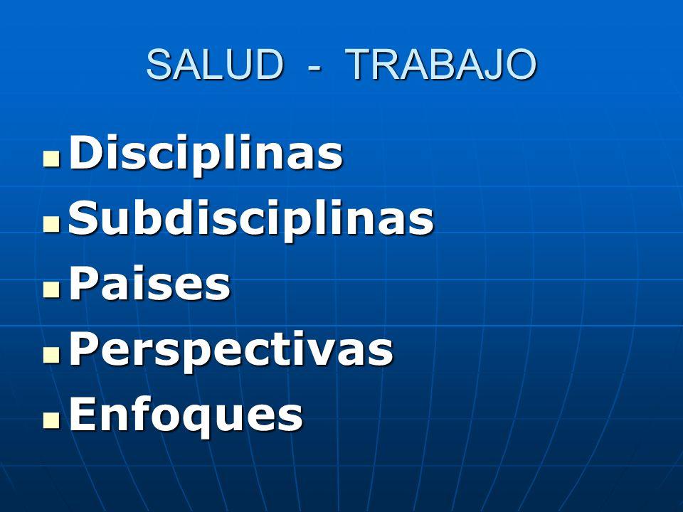 Disciplinas Subdisciplinas Paises Perspectivas Enfoques