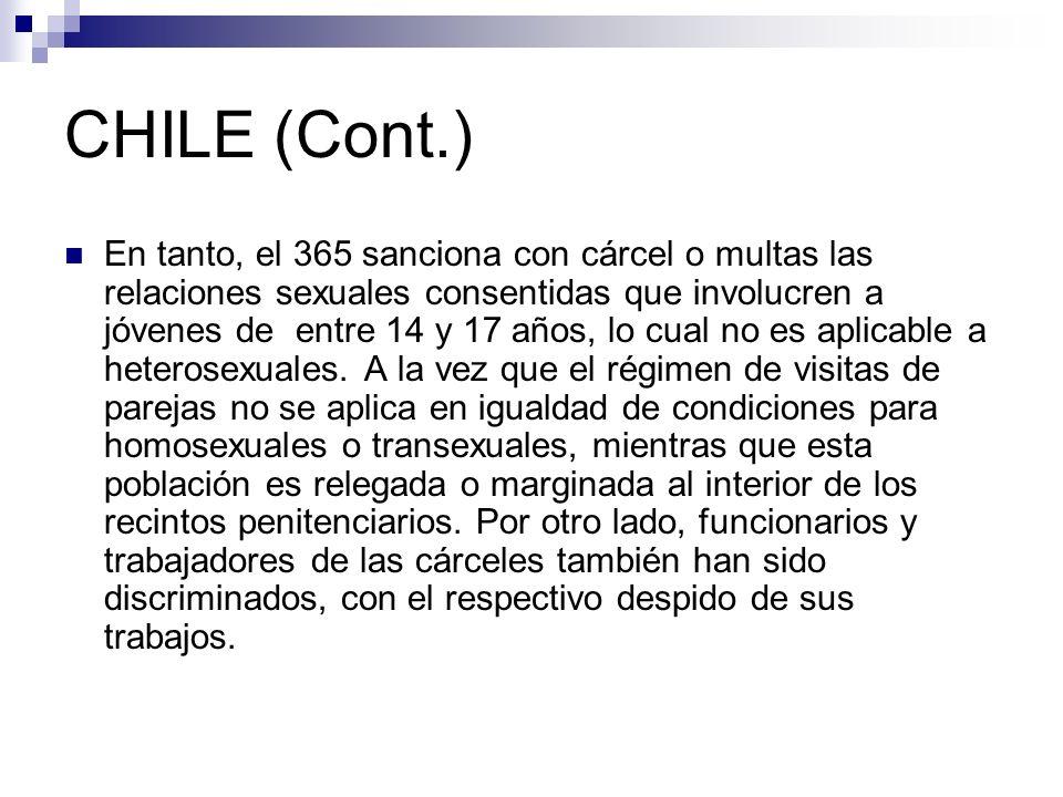 CHILE (Cont.)